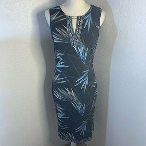 White House Black Market  Maxi Print Design Dress